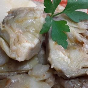 Alcachofas estofadas conpatatas