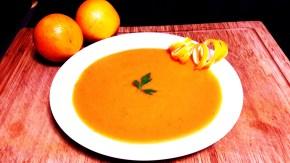 Crema de calabaza con naranja yjengibre
