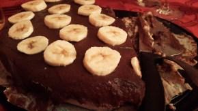 Tarta cruda de chocolate conplátano
