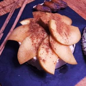 Tartaleta cruda de manzana alté